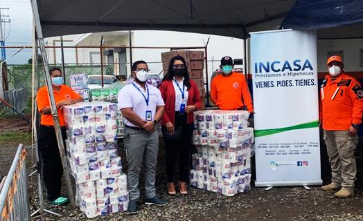 INCASA ayuda a las familias afectadas por el huracán Eta